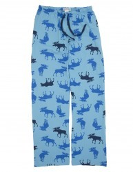 "Hatley Nature ""Navy Moose"" Women's Cotton Knit Pajama Pant"