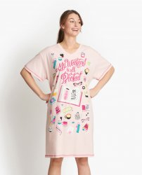 Little Blue House by Hatley Book Club Sleepshirt in Pink