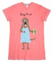 "Hatley Nature ""Dog Tired"" Women's Nightshirt in Pink"