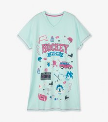 Little Blue House by Hatley Hockey Mom Sleepshirt in Blue