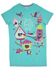 "Hatley Nature ""Home Tweet Home"" Women's Nightshirt in Green"
