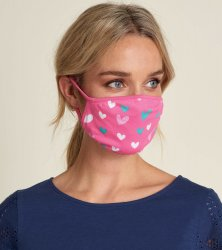 Little Blue House by Hatley Hearts Non-Medical Reusable Adult Cotton Face Mask