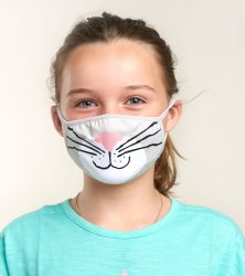 Little Blue House by Hatley Cat Non-Medical Reusable Kids Cotton Face Mask