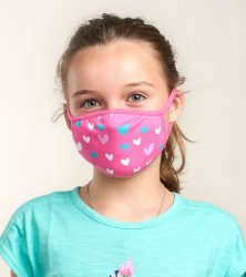 Little Blue House by Hatley Hearts Non-Medical Reusable Kids Cotton Face Mask