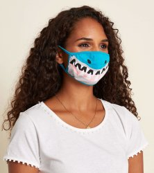Little Blue House by Hatley Shark Non-Medical Reusable Adult Cotton Face Mask