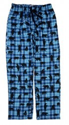 "Hatley Nature Men's ""Blue Plaid Bears"" Flannel Pajama Pant"