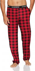 Little Blue House by Hatley Men's Red Buffalo Plaid Cotton Jersey Pajama Pant