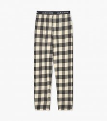 Little Blue House by Hatley Men's Cream Plaid Cotton Jersey Pajama Pant