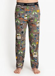 Little Blue House by Hatley Men's Retro Camping Cotton Jersey Pajama Pant