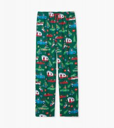 Little Blue House by Hatley Men's Retro Christmas Flannel Pajama Pant