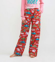 Little Blue House by Hatley Women's Retro Christmas Flannel Pajama Pant