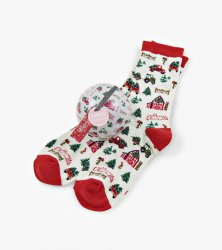 Little Blue House by Hatley Women's Country Christmas Socks In A Ball
