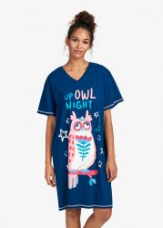 Little Blue House by Hatley Up Owl Night Sleepshirt in Navy