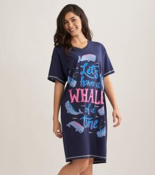 Little Blue House by Hatley Whale of a Day Sleepshirt in Navy