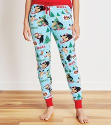 Little Blue House by Hatley Wild About Christmas Women's Sleep Leggings
