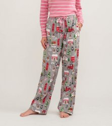 Little Blue House by Hatley Women's Christmas Village Flannel Pajama Pant