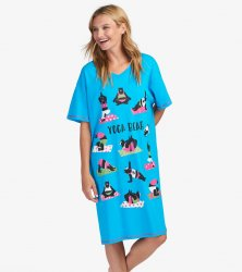 Little Blue House by Hatley Yoga Bear Sleepshirt in Blue