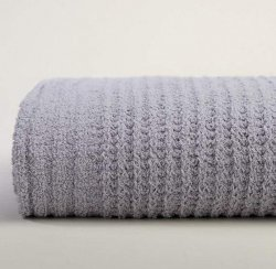 Kashwére Waffle Weave Throw in Light Grey