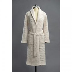 Kashwere Super Soft Basket Weave Shawl Robe in Malt