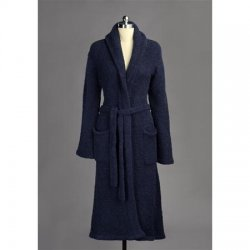 Kashwére Signature Shawl Collared Robe in Navy
