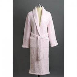 Kashwére Signature Shawl Collared Robe in Pink