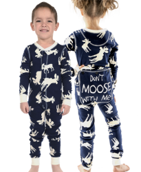 Lazy One Kids Unisex Classic Moose FlapJack in Navy
