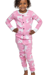 Lazy One Kids Unisex Classic Moose FlapJack in Pink