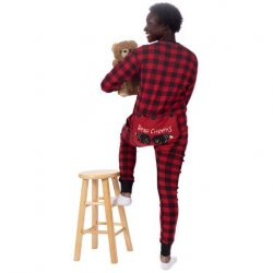 Lazy One Adult Unisex Red Plaid Bear Cheeks FlapJack