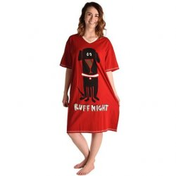 "Lazy One ""Ruff Night"" Women's Nightshirt in Red"