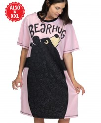 Lazy One Pink Bear Hug  Women's Nightshirt