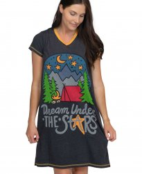 Lazy One Dream Under The Stars Camping V-Neck Nightshirt