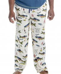 Lazy One Men's Asleep At The Reel Cotton Knit Pajama Pant