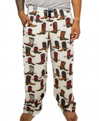 Lazy One Men's Boot Cotton Knit Pajama Pant