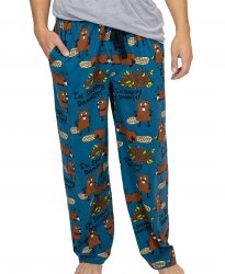 Lazy One Men's I'm Sleeping Dammit Cotton Knit Pajama Pant