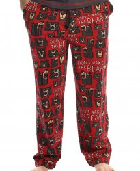 Lazy One Men's Don't Wake The Bear Cotton Knit Pajama Pant