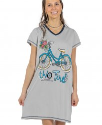 Lazy One Two Tired V-Neck Nightshirt