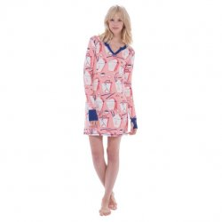 Munki Munki Chinese Take Out Cotton Jersey Nightshirt