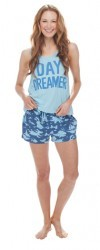 "Munki Munki Women's ""Day Dreamer"" Jersey Loose Tank and Short Set"