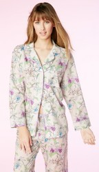 "Bedhead Women's ""Gray Orchid Thief"" Classic Cotton Pajama Set"