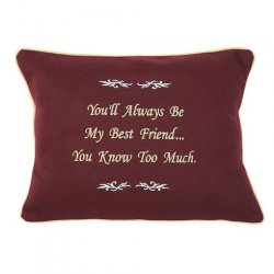 """You'll Always Be My Best Friend..."" Embroidered Gift Pillow"
