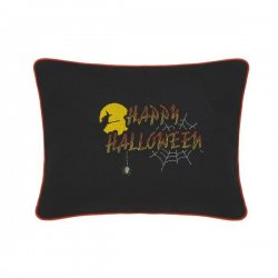 Happy Halloween Embroidered Gift Pillow