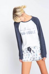 PJ Salvage Anything is Paw-ssible Long Sleeve Jersey Top