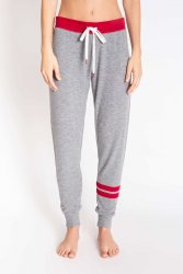 PJ Salvage All Things Love Banded Jogger Pant in Heather Grey