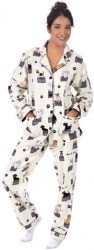 "PJ Salvage Women's Fantastic Flannels ""Best In Show"" Pajama Set in Heather Grey"