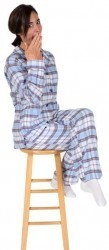 "PJ Salvage Women's Fall Into Flannel ""Shades of Grey"" Pajama Set"