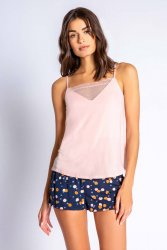 PJ Salvage Confetti Chic Cotton Jersey Cami in Blush