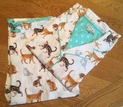 "PJ Salvage Ivory ""Playful Cats"" Classic Pajama Set"