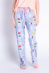 PJ Salvage Playful Prints Love You A Latte Cotton Jersey Pajama Pant in Peri