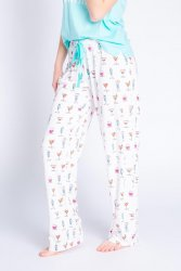 PJ Salvage Playful Prints Happy Hour Dreams Cotton Jersey Pajama Pant in Ivory