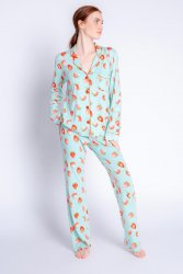 PJ Salvage Playful Prints Life is Sweet Cotton Jersey Classic Pajama Set in Mint